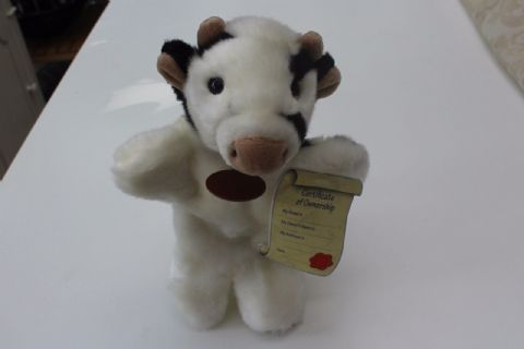 Cow soft toy hand puppet size 9 inches long Brand New Faithful Friends